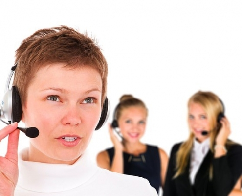 Callcenter-Agent mit Headset